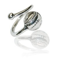 Silver Softball/Baseball Ring