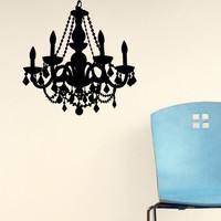 Chain Chandelier Decal  - Decals - Wall