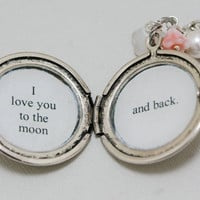 I love you to the moon and backLocket by emmagemshop on Etsy