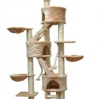 "Amazon.com: GoPetClub ""Jungle GYM"" Cat Tree Furniture Condo Bed House Pet Scratcher Post FC01: Pet Supplies"