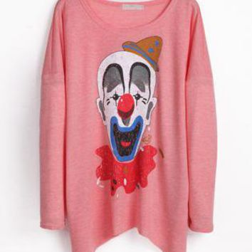 Pink Long Sleeve Clown T-Shirt S009908