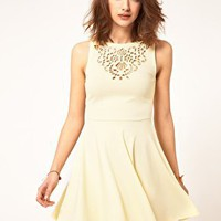 ASOS | ASOS Skater Dress With Laser Cut at ASOS