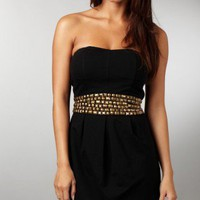 Strapless Stud Dress - AX Paris