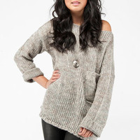 Corner Pocket Sweater in Grey :: tobi