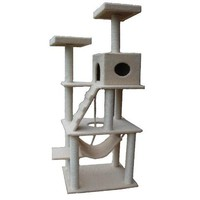 "Amazon.com: New 72"" Large Cat Tower Tree with Condo House Scratcher Post: Pet Supplies"