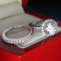 14K WHITE GOLD NEW VINTA...