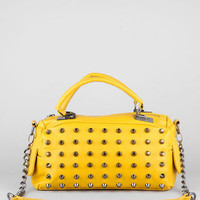 Let's Be Studs Satchel in Yellow :: tobi