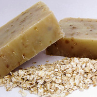 Oatmeal Milk and Honey Soap Hot Process Bar by DelicateByNature