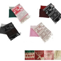 Cheap new arrival deer pattern green warm cashmere scarf shawl tassel fast deliver ca0110 [ca0110]- US$19.00 outlet free shipping with top quality - scarves4ever.com