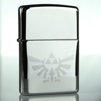 Legend of Zelda Triforce Symbol Zippo Lighter