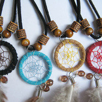 accessoryinlove — Handmade Dream Catcher Feather Necklace