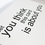 Sassy Modern Greeting Card by dodelinedesign on Etsy
