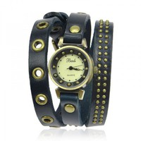 Fashion Leather Wrap Watch