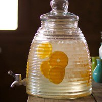 glass beehive drink dispenser