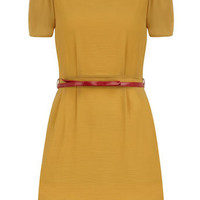 Mustard 3/4 sleeve dress - View All New In   - What's New
