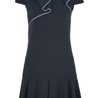 Valentino R.E.D. - Navy Blue Pleated Bow Dress