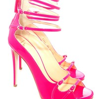 Oxygen | Giuseppe Zanotti Strappy Neon Heel