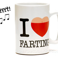 I HEART FARTING SOUND MUG