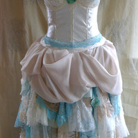 Custom Wedding Gown for Tiffany... Bustier Alternative Whimsical Fairy Beach Mermaid Boho Eco Friendly