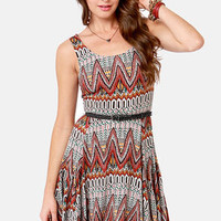 BB Dakota by Jack Audrian Tribal Print Dress