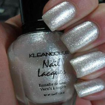 1 New Kleancolor ♥ Metallic White ♥ Nail Polish Lacquer FULL SZ