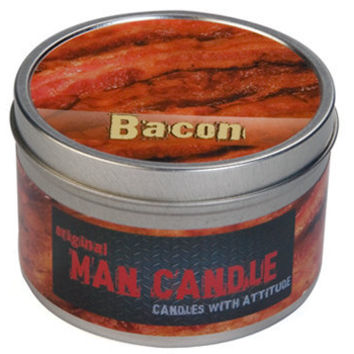 THE ORIGINAL BACON MAN CANDLE