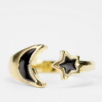 Moon &amp; Star Ring