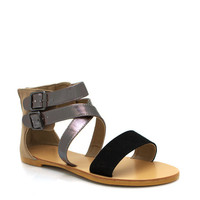 strappy-faux-nubuck-sandals BLACK NUDE ORANGE SEAFOAM - GoJane.com