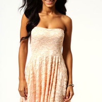 Lulu Lace Bandeau Skater Dress