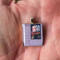 Super Mario NES Game Pendant Necklace by SherrysStock on Etsy
