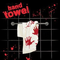 Amazon.com: Spinning Hat Blood Bath Hand Towel: Home & Kitchen