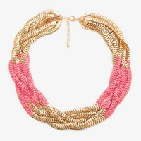 Colorblocked Snake Chain Necklace | FOREVER 21 - 1022229181