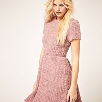 ASOS | ASOS Dress with Textured Knit at ASOS