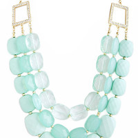 Mint Jewel Layer Necklace – Modeets.com