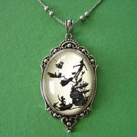 Peter Pan Necklace, pendant on chain, Disney