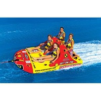 Amazon.com: SportsStuff Bandwagon 2+2 Towable Ski Tube 4-Person: Sports & Outdoors