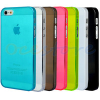 0.5mm Ultra-Thin Glossy Hard Case Cover Shell For Apple iPhone 5 5G (7 Colors)
