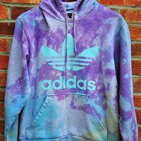 Cryptic Cult  tie dye ADIDAS originals trefoil hoodie