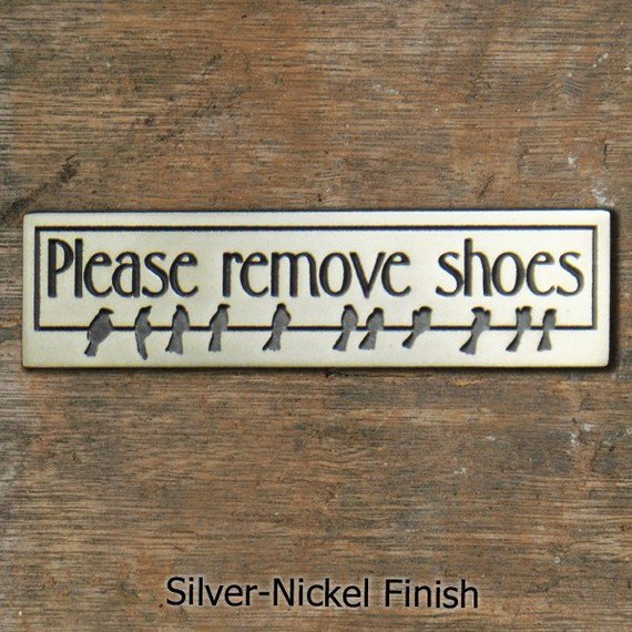 $48.00 Mini Birds on Wire Rmove Boots Plaque  You choose by AtlasSigns