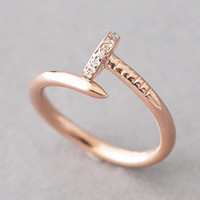 ROSE GOLD NAIL RING JEWELRY STERLING SILVER NAIL RING WRAP from Kellinsilver.com