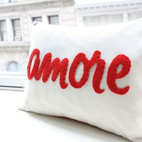 Amore Pillow in Red- Italian Love