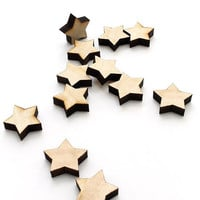 Laser Cut Mini Wooden Stars - Free Shipping - Itsies - Charms by Timber Green Woods