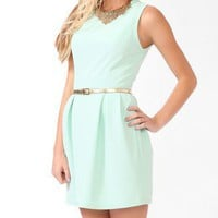 Ribbed Dress w/ Metallic Belt | FOREVER 21 - 2020043196