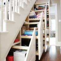 Organization / Easy to get to the stuff and a space saver!