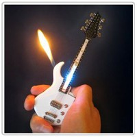 Amazon.com: 1x Mini White Guitar LED Light Refillable Cigar Cigarette Lighter 7inch&quot;: Kitchen &amp; Dining