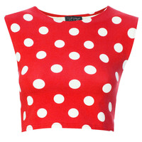 Spot Stretch Crop Tee - New In This Week - New In - Topshop USA