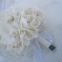 Bridal bouquet Fabric flower alternative wedding bouquet handmade satin fabric flowers many colors