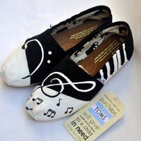 Custom Handpainted Music TOMS by TheIndependentSoul on Etsy
