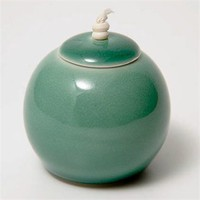 Agua (Small) Lidded Spherical Pot  by Kate Schuricht at Seek  Adore