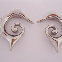 Steel Tribal Hooks (14 gauge - 0 gauge)
